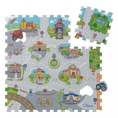 Chicco Hračka puzzle pěnové Mesto 30x30 cm, 9 ks, 12m+