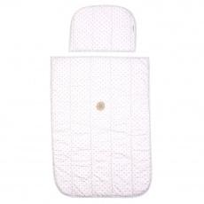Little Angel-Set přikrývka,polštář prošev Outlast® - růžová lesk puntík/pruh bílošedý melír