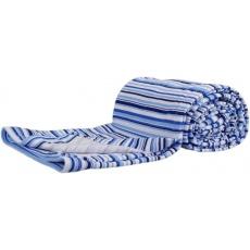 KAARSGAREN-Bavlněná letní deka modré proužky
