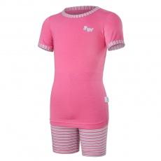 Little Angel-Pyžamo KR Outlast® - tm.růžová/pruh růžovozelený Velikost: 110