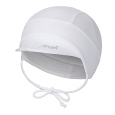Little Angel-Kšiltovka tenká zavazovací Outlast® - bílá Velikost: 2 | 39-41 cm