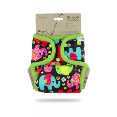 Petit Lulu-Svrchní kalhotky jednovelikostní pat-Slonicí (růžová)