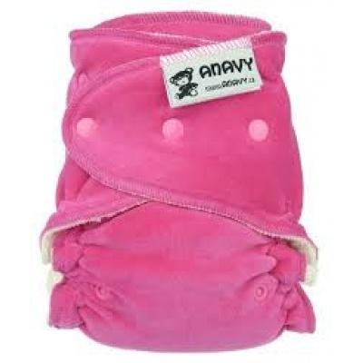 Anavy-Jednovelikostní kalhotková plenka Růžová tmavě(bavlněný velur)