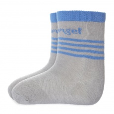 Little Angel-Ponožky tenké protiskluz Outlast® - tm.šedá/modrá Velikost: 20-24 | 14-16 cm