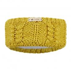 Little Angel-Čelenka pletená copánek Outlast ® - hořčice lesk Velikost: 5 | 49-53 cm