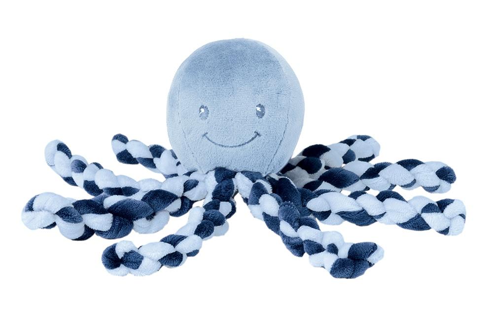 Nattou První hračka miminka chobotnička PIU PIU Lapidou navy blue 0m +