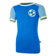 Little Angel-Tričko tenké KR pruh Outlast® - modrá royal/pruh modrá royal Velikost: 134