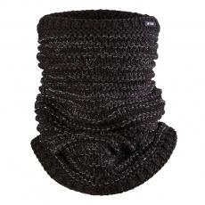 Little Angel-Nákrčník pletený Outlast ® - černá lesk Velikost: 5 | 49-53 cm