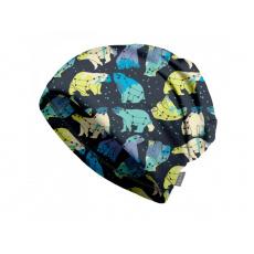 Unuo - Dětská čepice fleecová spadená, Souhvězdí medvěda kluk
