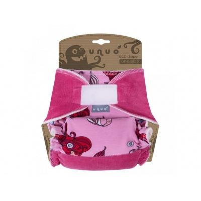 UNUO-Kalhotková plena One Size Mořská panna na růžové