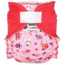 Anavy-rostoucí (4-15 kg) Kalhotková plena na suchý zip Zvířátka (růžová)/Jahoda