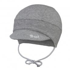 Little Angel-Kšiltovka tenká zavazovací Outlast® - šedý melír Velikost: 1 | 36-38 cm