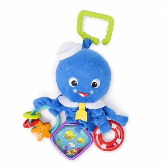 DISNEY BABY Hračka aktívni chobotnička na C-kroužku Octopus™ 0 m+