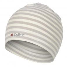Little Angel-Čepice smyk natahovací Outlast ® - pruh bílá káva Velikost: 6, 54-57 cm