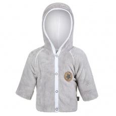 Little Angel-Kabátek MAZLÍK Outlast® - sv.šedá/bílá Velikost: 62