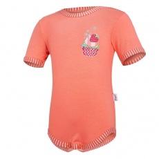 Little Angel-Body tenké KR obrázek Outlast® - tm.coral/pruh tm.coral Velikost: 74