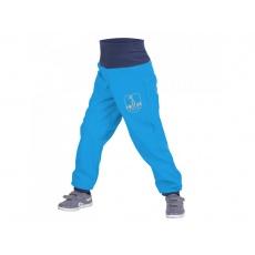 UNUO-Batolecí softshellové kalhoty s fleecem tyrkysové+REFLEXNÍ OBRÁZEK EVŽEN