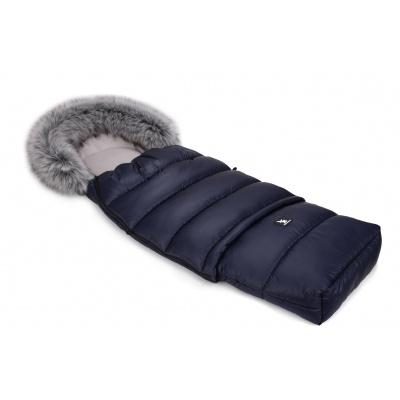 Cottonmoose-Fusak zimní combi 2019 tm.modrý, kožich