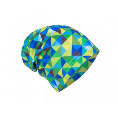 UNUO-Fleecová čepice Triangl kluk