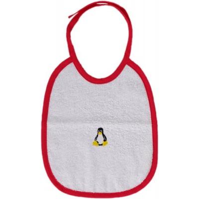 KAARSGAREN-Bryndáček s tučňákem červený lem
