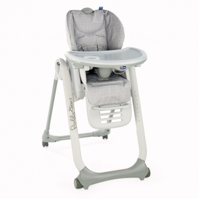 Chicco Židlička jídelní Polly 2 Start - Happy Silver
