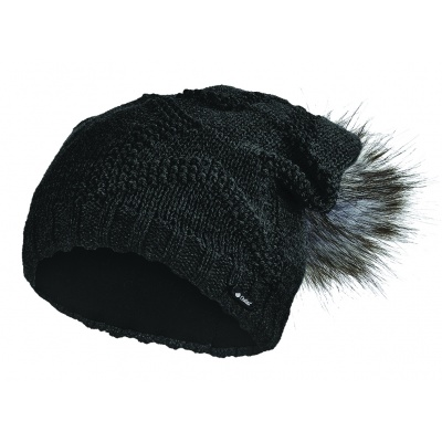 Little Angel-Čepice pletená žakárová hvězda Outlast ® - černá Velikost: 5, 49-53 cm