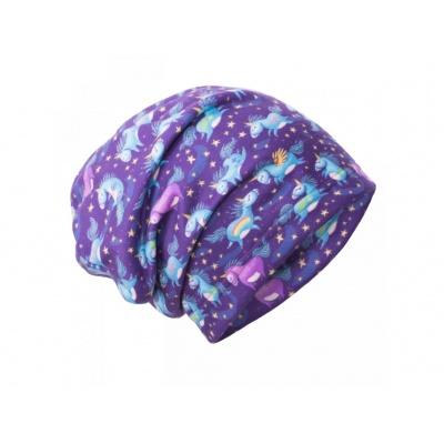 UNUO-Fleecová čepice Jednorožci
