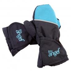 Little Angel-Rukavice s palcem Outlast® - černá/tyrkys Velikost: 1