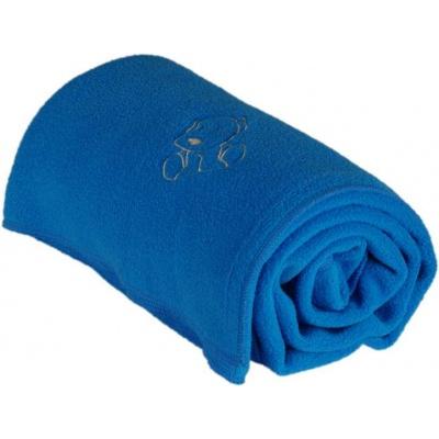 KAARSGAREN-Dětská flísová deka s pejskem aqua