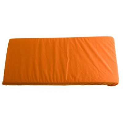 KAARSGAREN-2v1 Oranžové prostěradlo 200x200cm a chránič matrace