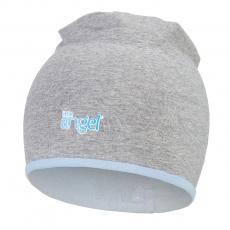Little Angel-Čepice podšitá Outlast® - šedý melír/sv.modrá Velikost: 1   36-38 cm