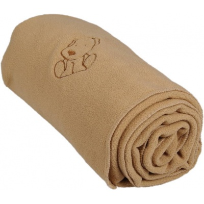 KAARSGAREN-Dětská flísová deka s pejskem béžová
