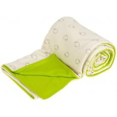 KAARSGAREN-Dětská deka bio beránci limetkové merino